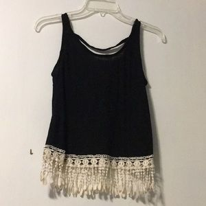 Rue21 Black Frilly Camisole